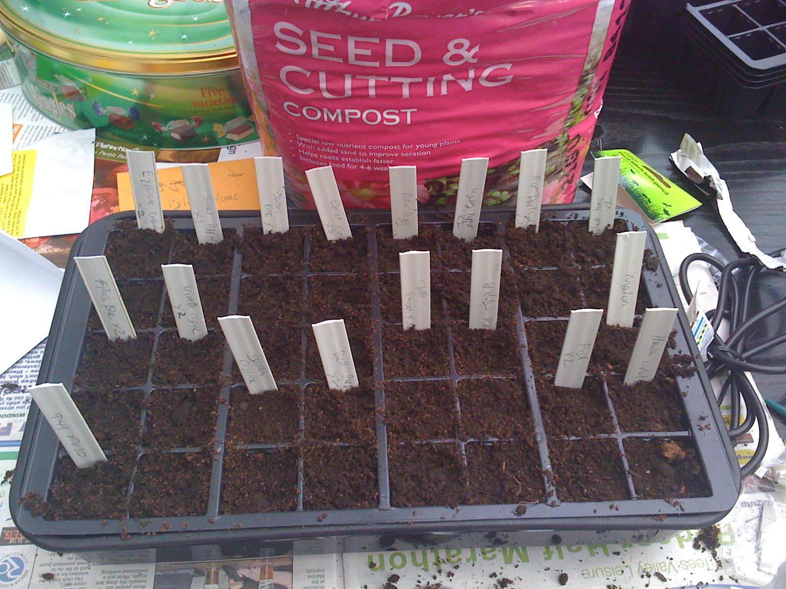 all planted and labelled