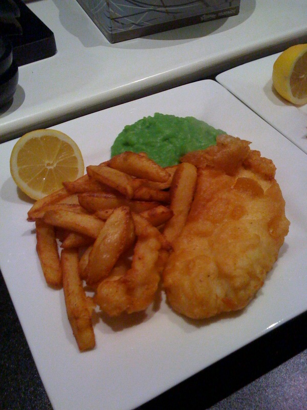 Chilli and beer battered fish and chips