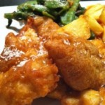 Thai Spiced Fish and Chips with Satay Veg