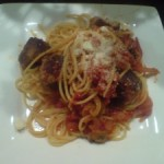 Spicy Spaghetti and Meatballs