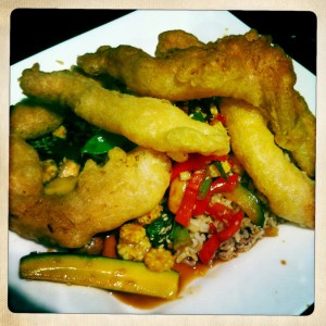 tempura chicken with chilli