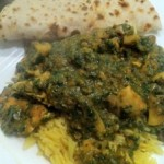 Chilli Chicken and Mushroom Saag