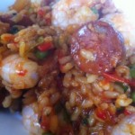 Spicy Prawn and Chorizo Rice with a hint of Tabasco
