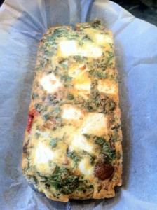 Baked vegetable and chilli frittata