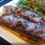 Spicy Lamb Stuffed Courgette Recipe