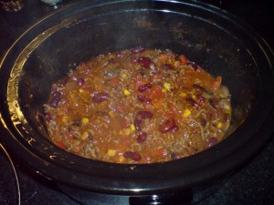 A Nice hearty chilli for those cold winter days