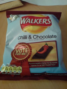 Walkers chilli and chocolate crisps