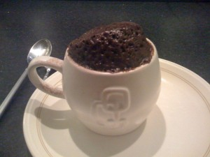 chilli chocolate microwave mug cake