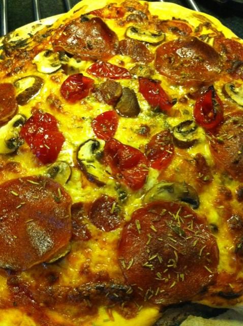 Peppadew pizza