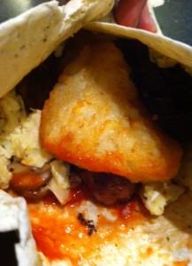 spicy breakfast burrito hangover cure