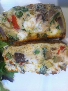 frittata slices