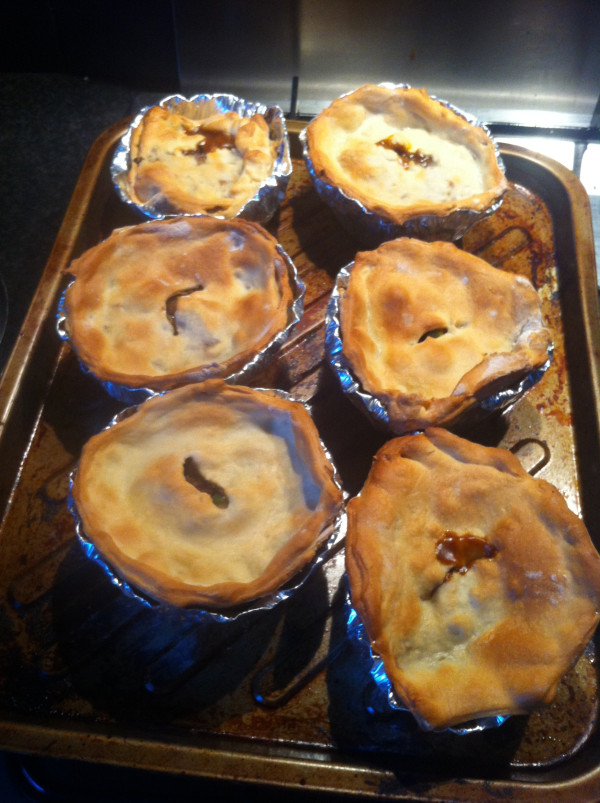 Hairy dieters low fat meat and potato pies