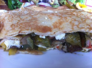 Chilli vegetable pancake stack recipe